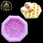 Молд силиконовый Соты + пчела (73x73x37мм)