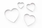 Набор резаков Сердце метал., большие