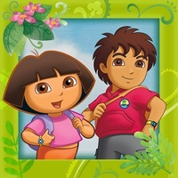 Картинка вафельная Даша и Диего, А4