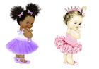 Вафельная картинка, Девочки, высота кукол 18 см