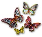Бабочки вафельные цветные ЯРКИЕ , 10 шт
