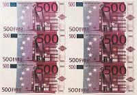 Картинка вафельная , 500 Евро А4, 6 шт.