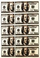 Картинка вафельная ,Доллары 12х5;7х5 см., 10 шт