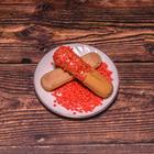 Сердечки сахарные красные мини  , 100 гр