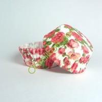 Капсулы для кексов Розы на белом фоне, Д5/Н2,8 см, 10 шт