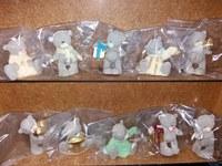 Сахарное украшение Мишка Тедди, шоколад , 8 см