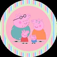 Картинка вафельная хрюшка Пеппа1 , круг А4