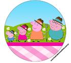 Картинка вафельная хрюшка Пеппа2 , круг А4