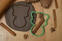 Выемка для мастика/пряники, печенье Погремушка МИШКА, 10 см