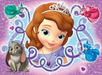 Вафельная картинка принцесса Софи, формат А4
