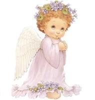Вафельная открытка Ангелочек