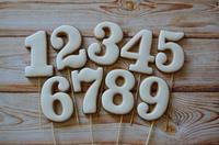 Пряник , Цифра  в ас-те,  1 шт (10 см)