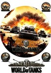 Картинка вафельная World of Tanks, 20*20